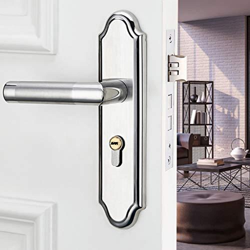 ZLDCTG Universal Simple Puerta Bloqueo de la Puerta de Acero Inoxidable Cerraduras de la manija de la Puerta para el baño del Dormitorio Accesorios de Hardware de la Puerta Interior