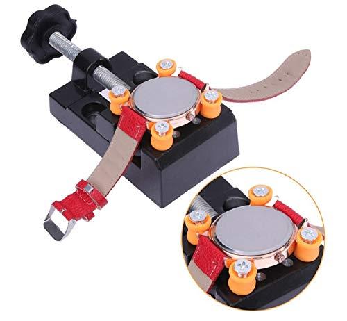Mini tornillo de banco Abrazadera Mesa Banco Abrazadera para joyería Nogal Reloj Nuclear Reparación de Clip DIY Escultura Artesanía Herramienta de talla