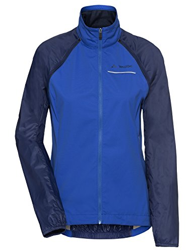 VAUDE Windoo Pro Zo Veste Coupe-Vent Femme, Gentian Blue, FR : XL (Taille Fabricant : 44)