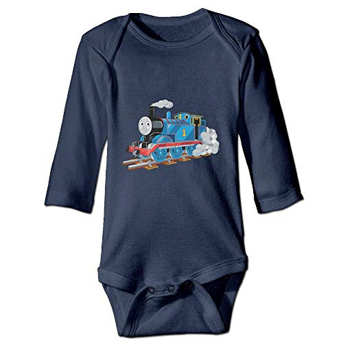 Thomas Train Neutral Baby Long Sleeve One Piece Navy Blue 24Months