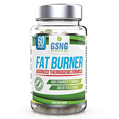 Fat Burner Weight Loss Pills – Metabolism Support, Appetite Suppressant - Green Tea Extract Lean Slimming Diet Supplement for Men & Women - Premium UK Manufacture – 60 Vegetarian Capsules - GSNG