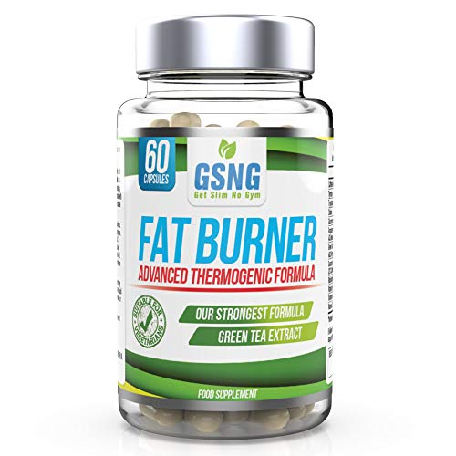Fat Burner Weight Loss Pills – Metabolism Booster, Appetite Suppressant - Green Tea Extract Lean Slimming Diet Supplement for Men & Women - UK Premium Manufacture - 60 Vegetarian Capsules - GSNG