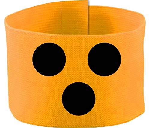 größenverstellbare Armbinde/Mediaband bedruckt mit Blindenpunkten (SENIOR 25-36 cm) (Farbe gelb)