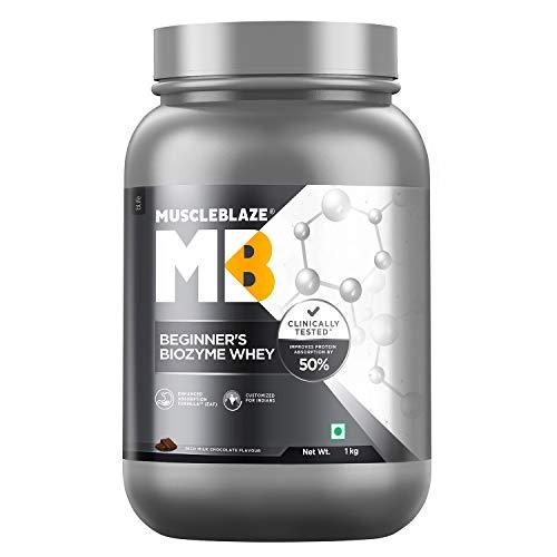 MuscleBlaze Beginner's Biozyme Whey Protein ,(Rich Milk Chocolate, 1 Kg/ 2.2lb)