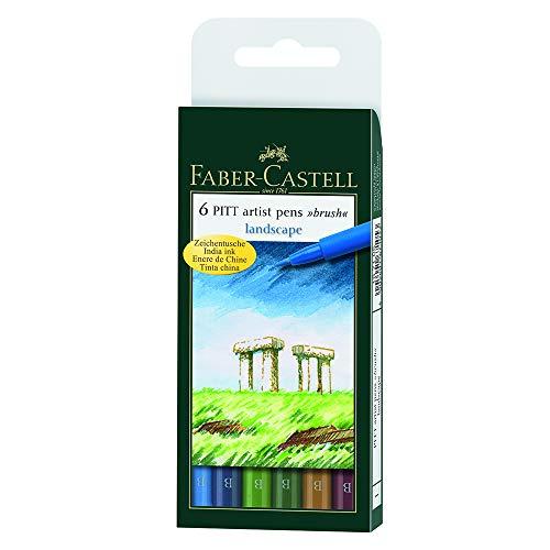 Pitt Artist Pen Brush 6 kolorów odcienie natury