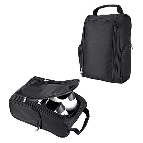 LONGCHAO Golf Shoes Bag Sport Bag - Travel Shoes Case Carry Tote Bag for Sport Golf Tennis and Other Accessories (Black)