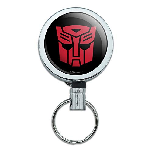 Transformers Autobot Symbol Heavy Duty Metal Retractable Reel ID Badge Key Card Tag Holder with Belt Clip