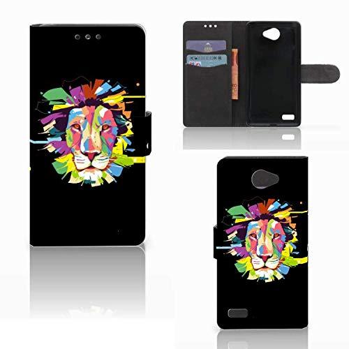 B2Ctelecom Schutzhülle für LG Bello 2 Lederhülle Lion Farbe Männer
