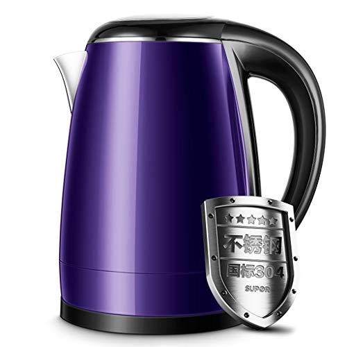 DONGY Wasserkocher Haushalt Wasserkocher mit automatischer Ausschaltfunktion Teekanne, Lila, 1.7L