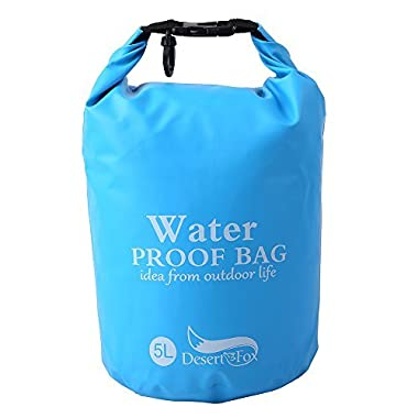Premium Waterproof Dry Bag, Keeps Gear Dry for Camping, Hiking,Kayaking, Beach, Rafting, Boating, Outdoor Activity,Precious Belongings (Blue, 5L)