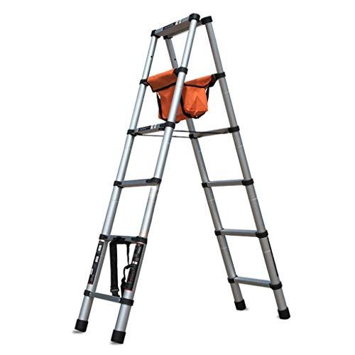 Seguridad Escalera plegable de aluminio plegable escalera con material de herramienta robusta Amplia pedal de Altas Prestaciones Escalera Multi Purpose portátil Inicio de escalera con bolsa de almacen