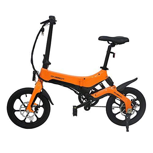 Biciclette Elettriche PIEGHEVOLE 16 Pollici da 250W 25km/h per Donna Uomo Mountain bike/Bici da Montagna/Città/Strada, Batteria al Litio da 36 V Schermo LCD Freni a Disco 3 Modalità [STOCK UE]