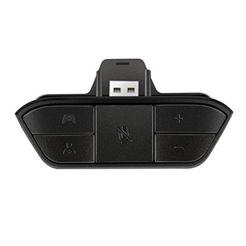 Kurphy Adaptador para auriculares estéreo negro adaptador para auriculares adaptador audio convertidor para auriculares para controlador de juego inalámbrico Microsoft Xbox One. Negro