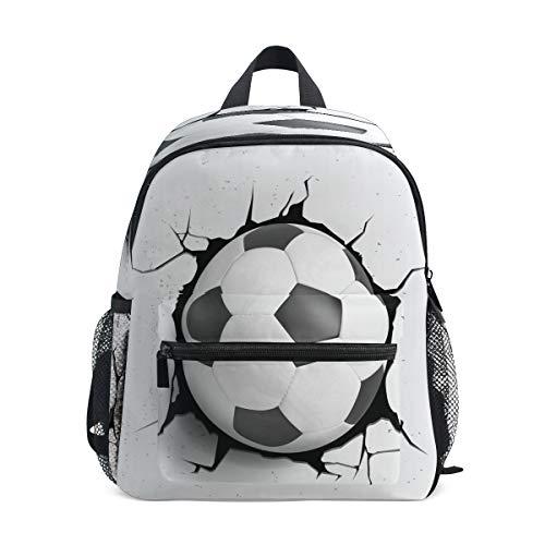RXYY Kinder Rucksäcke Sport Fußball Ball Textur Tagesrucksäcke Reise Kleinkind Vorschule Schule Tasche Beiläufig Rucksack mit Truhe Gurt zum Mädchen Jungs