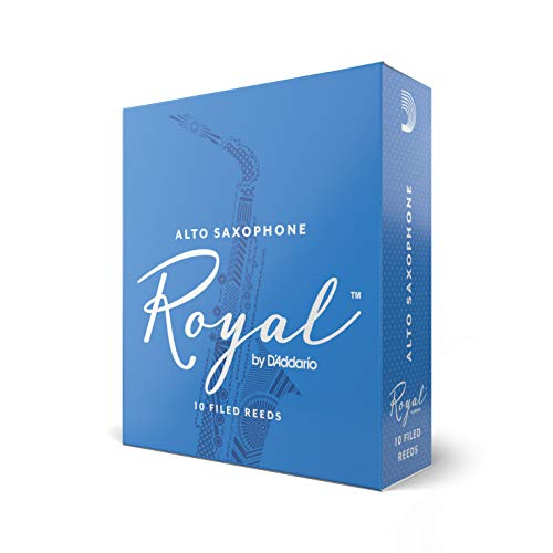 Royal Alto Sax Reeds, Strength 2.5, 10-pack