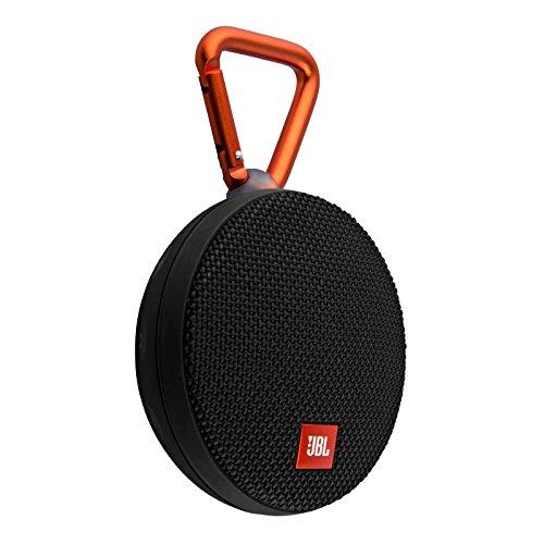 JBL Clip 2 Waterproof Portable Bluetooth Speaker Black (Renewed)