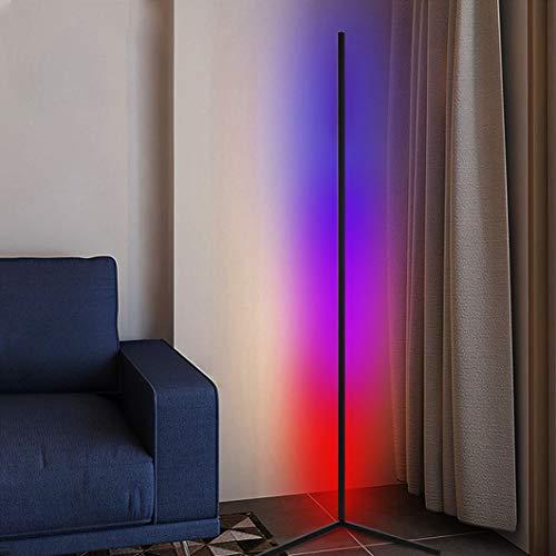 JAKROO RGB Stehlampe, Dimmbar Mit Fernbedienung Modern LED Stehleuchte für Wohnzimmer Schlafzimmer Ecke, Farbtemperaturen Und Helligkeit Einstellbar Bunt Atmosphäre Licht
