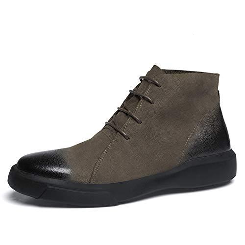 Xue Heren Laarzen, Martins Laarzen, Val Leer, Comfort High-Top Sneakers, Halverwege Kalf Laarzen, Enkellaarzen, Lace-Up Schoenen, Mode Engeland