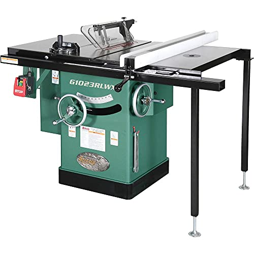 Grizzly Industrial G1023RLWX - 10' 5 HP 240V Cabinet Table Saw with Built-in Router Table