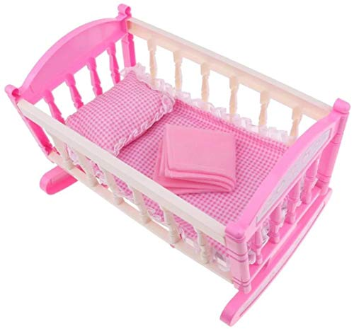 WXH SLL- Baby Doll Bed Reborn Cradle Realistic Baby Doll Krippe Puppenmöbel ACCS