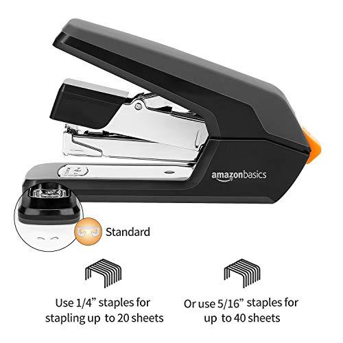 Amazon Basics Reduced Effort Desk Stapler, 40 Sheet Capacity - Black, 3 Pack Photo #2