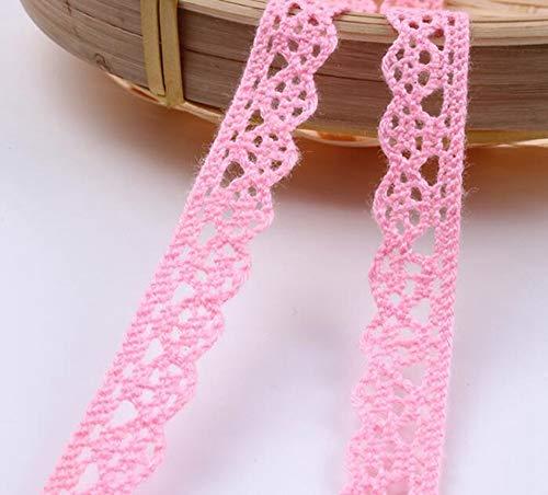 HL-PYL 10Yards Mix Colors Baumwollspitzenborten Baumwollband DIY-Kleidung Hometexile Kantenverzierung Handgemachtes Baumwollgewebe Material, Breite 10mm