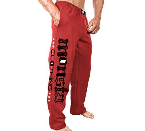 Monsta Clothing Co. Men's Bodybuilding (ES:MC-Monsta Flag) Gym Sweatpants (G:RD) Red