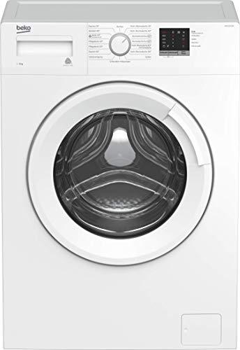 Beko WML61023NR Waschmaschine/ Vollelektronisch/ 3-6-9 h Startzeitvorwahl/ Schleuderwahl/ 1000 U/min/ XL-Tür/ A+++/ 6 kg/ nur 41,5 cm tief - platzsparend