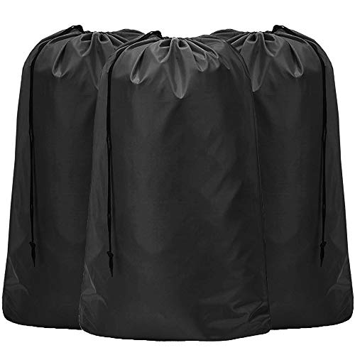 HOMEST 3 Pack XL Nylon Laundry Bag, Machine Washable Large Dirty Clothes Organizer, Easy Fit a Laundry Hamper or Basket, Can Carry Up to 4 Loads of...