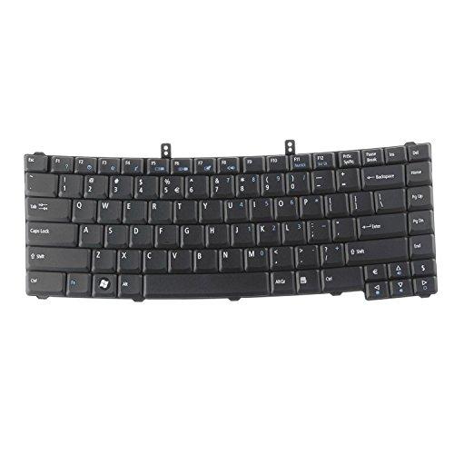 Green Cell® Tastiera per PC Portatile Acer Extensa 5220-1A1G16 (Schema: QWERTY US English | Colore: Nero)