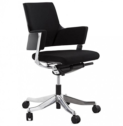 Koon Ray bureaustoel van stof, zwart, 65 x 65 x 100 cm