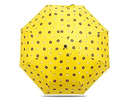"""N/A"" Paraguas Oso MarróN Pluma Chapado Hoja De Arce Paraguas Negro Pega Protector Solar Paraguas Transparente Oso Paraguas UV Paraguas Oso marrón Amarillo Triple"