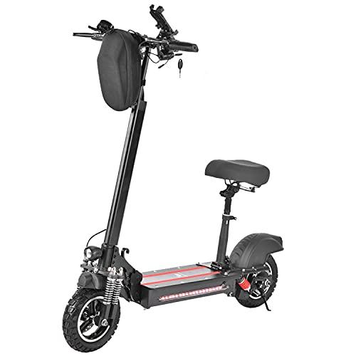 Patinete Electrico Adultos con Asiento 600W Scooter eléctrico Plegable hasta 40Km/h Alcance...