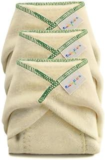 BabyKicks 3 Pack Prefold Diaper, Medium