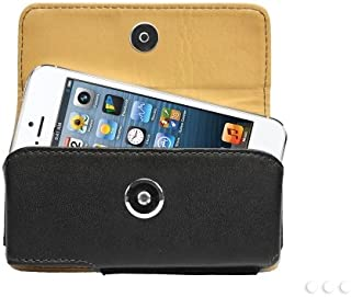 Cellet Horizontal Premium Noble Leather Case Pouch for Apple iPhone 5, 5s, 5c, SE and 4, 4S with Removable Spring Clip