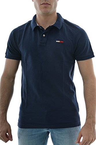 Hilfiger Denim Basic big Flag Polo s/s 1, Bleu (Navy Blazer Pt), (Taille Fabricant: Large) Homme
