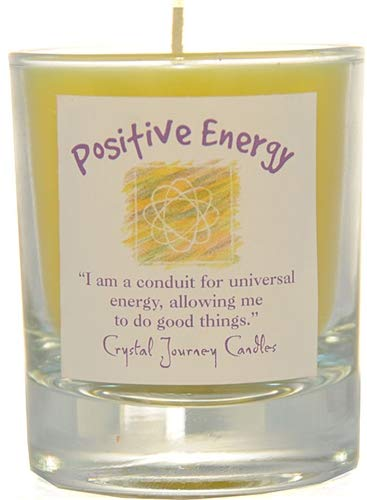 Crystal Journey Herbal Magic Glass Filled Votive Soy Candle - Positive Energy