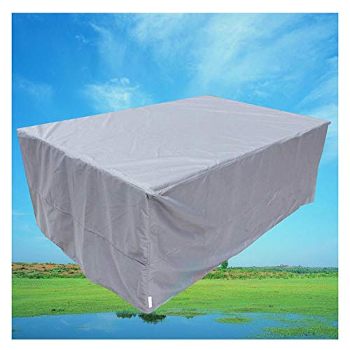 LITINGFC Garden Furniture Covers,Oxford Fabric Outdoor Patio Furniture Covers Made,Shade Waterproof Windproof Rattan Furniture Cover (Color : Silver, Size : 308x138x98cm)