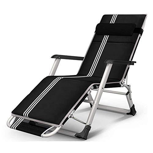 WSDSX Silla reclinable Plegable, sombrilla Plegable Transpirable, sillón reclinable de jardín, balcón, Ocio, Playa Perezosa, jardín, Respaldo de Oficina, Silla portátil, Ajuste de 3 Marchas