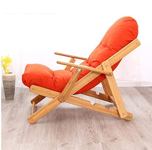 YAMEIJIA Klappender, fauler Einzelstuhl Schlafsättel Sofa Sesselstuhl Sessel Erholungs-Sessel der Balkon-Tuch Art Deck,Orange