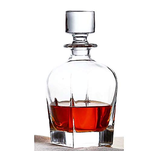 ZSQHD Creative Decanter Set Glass Whiskey Licor Botella de Vino Botella de Vino Copa de Vino Hogar Decanter Rojo Vino (Size : 1bottle 1cup)