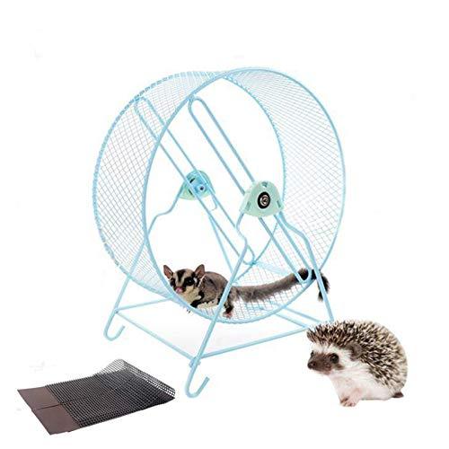 SESERRYY - Rueda de ejercicio silenciosa para hámster con gerbola Chinchilla ardilla, conejo, ratas, chinchillas, gerbolas, ratones estándar, tamaño mediano, tamaño grande, 32 cm, color azul