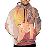 Sudadera con capucha para hombre con capucha y estampado de sudadera con capucha de manga larga unisex, Darwin's Game 1, M