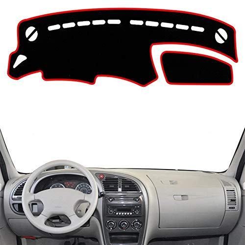 WEISHAN Alfombrilla para salpicadero de coche para Citroen Xsara 1997 1998 1999 2000 2001-2006 (nombre del color: negro borde negro), tamaño: conducción a la izquierda)