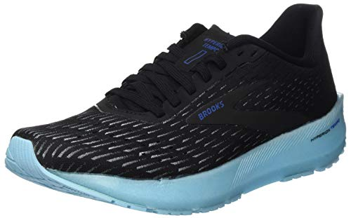 Brooks Mädchen Hyperion Tempo Laufschuh, Black/Ice Aqua/Blue, 35.5 EU