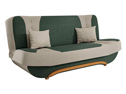 Mirjan24 Sofa Pinto mit Bettkasten und Schlaffunktion, Schlafsofa, Farb- und Materialauswahl, Wohnlandschaft, Couch vom Hersteller, Schlafcouch (Faro 07 + Faro 01)