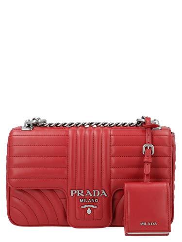 Luxury Fashion | Prada Dames 1BD108VCOX2D91F0YGF Rood Leer Schoudertassen | Lente-zomer 20