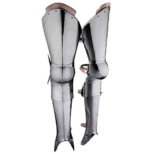 Disfraz de alarpa de armadura de muslo medieval guerrero completo