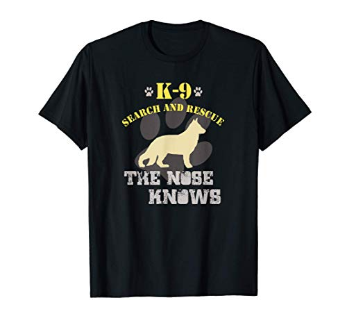 K9 Search & Rescue Team German Shepherd Dog GSD Tracking SAR T-Shirt