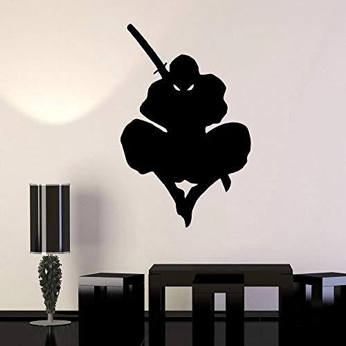 YuanMinglu Samurai Krieger Wandaufkleber Japanischen Schwertkiller Vinyl Jungen Schlafsaal Wandaufkleber 36X57 cm